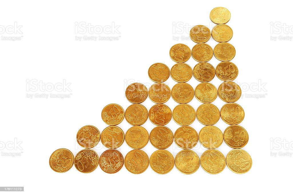 Coin Growth royalty-free stock photo