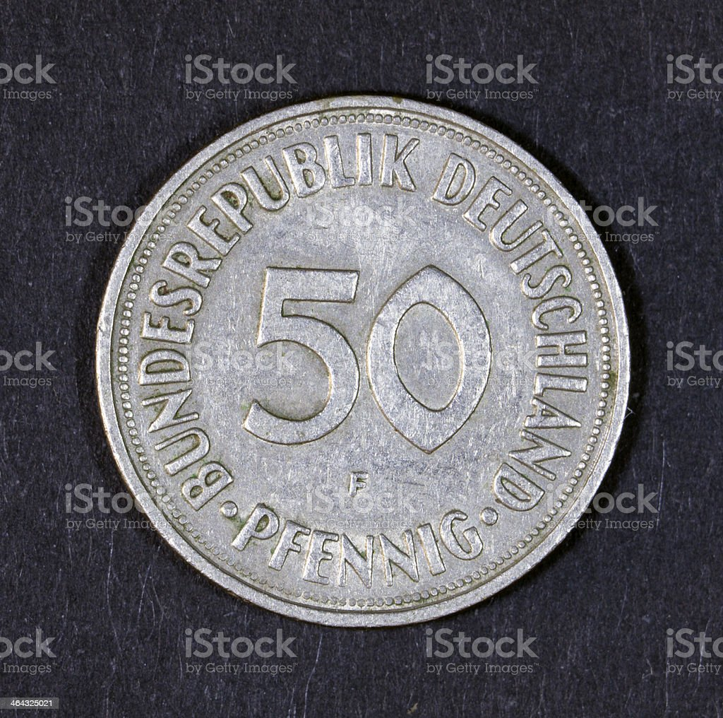 DDR Coin - Isolated on Black. stock photo