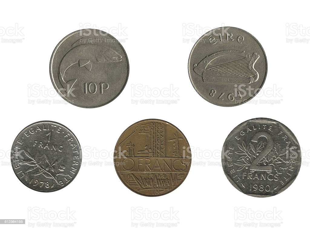 Coin isolated stock photo