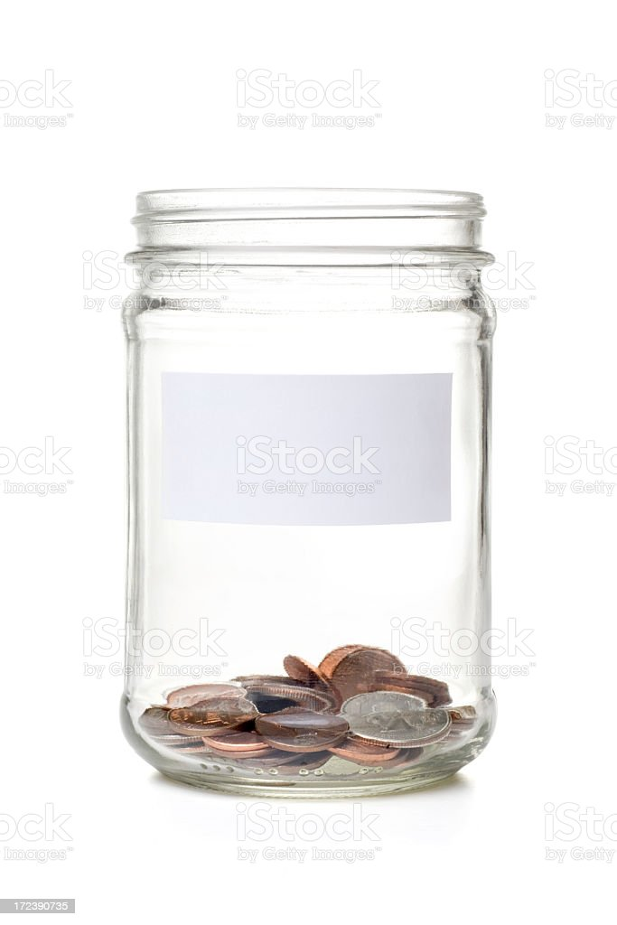 Coin Jar stock photo