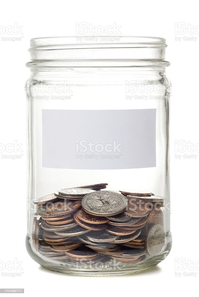 Coin Jar royalty-free stock photo