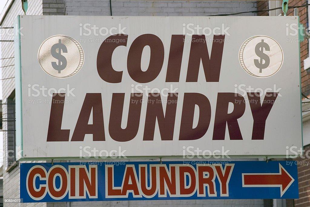 Coin laundry stock photo
