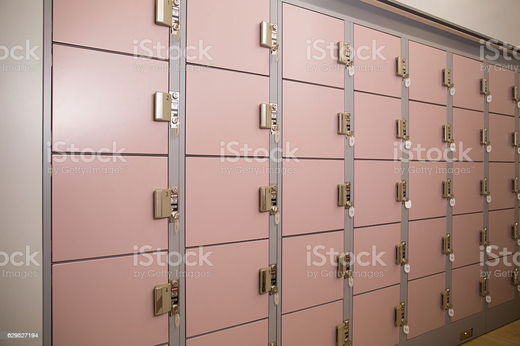 Coin locker stock photo