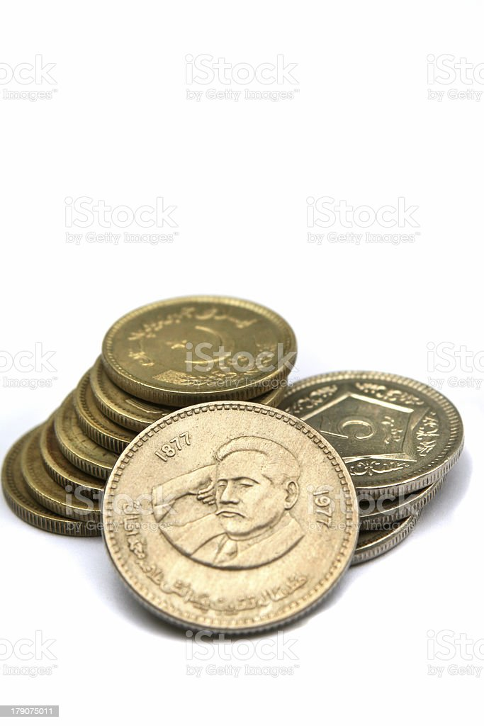 Coin of Iqbal stock photo
