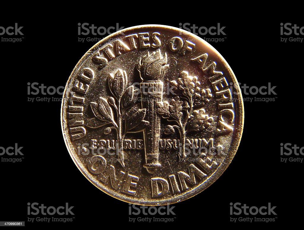 US Coin - one dime stock photo
