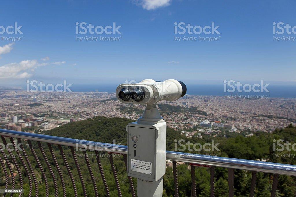 Coin Operated Binocular royalty-free stock photo