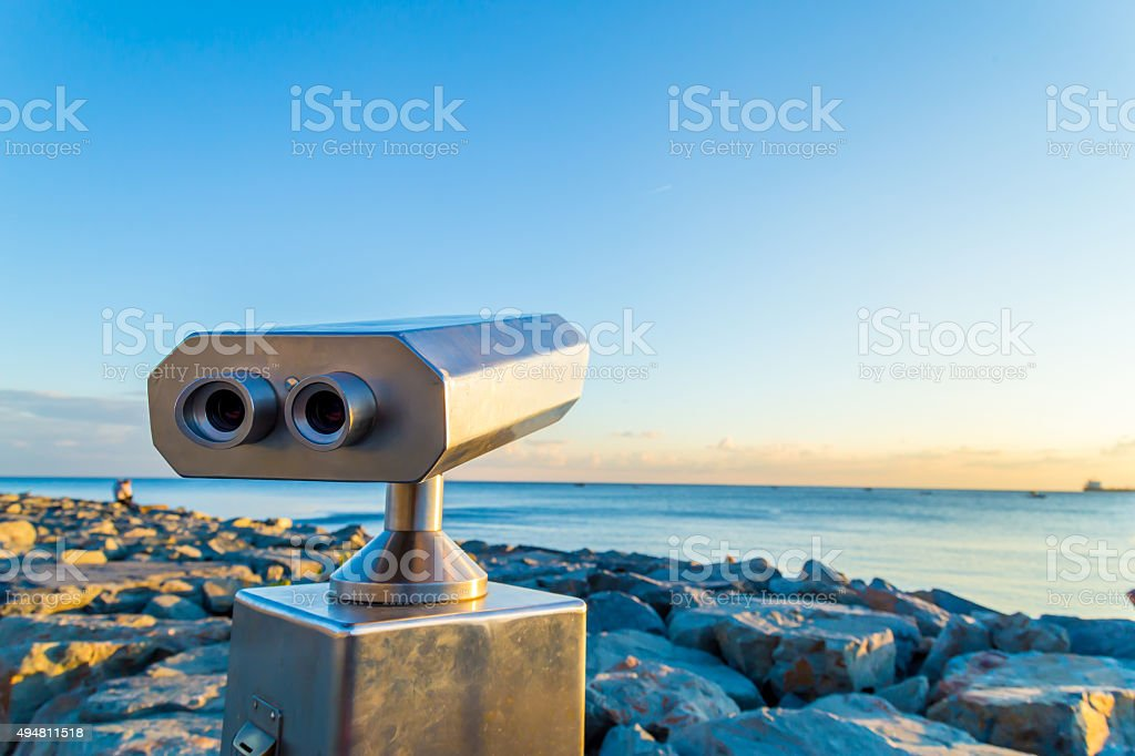Coin operated binocular stock photo