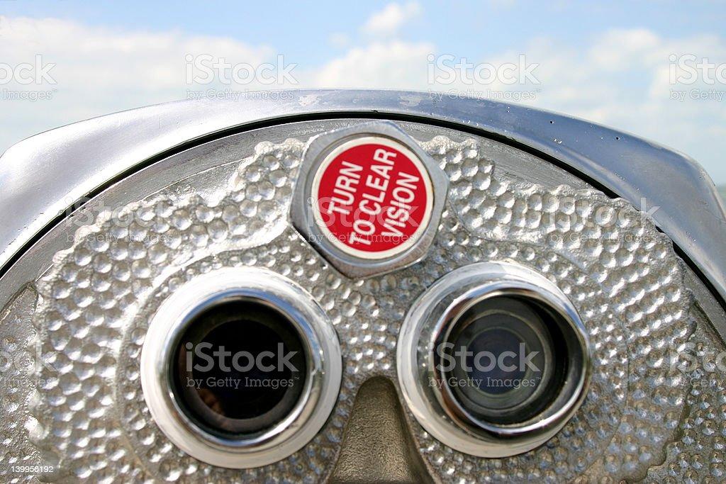 Coin operated binoculars at Fort Desoto Florida stock photo