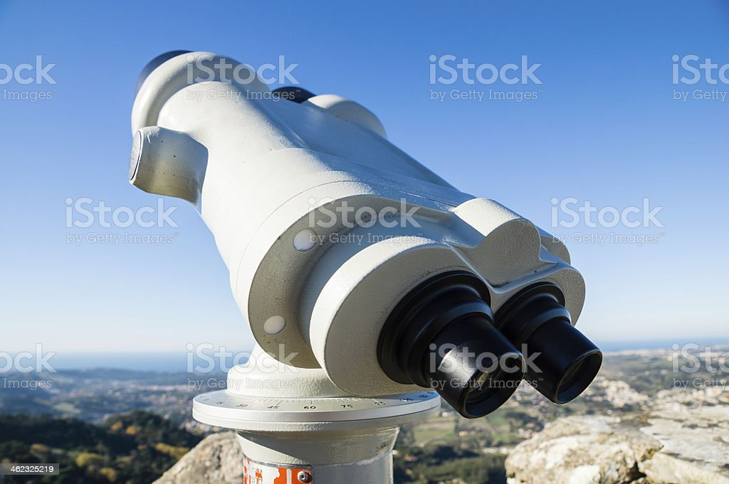 coin operated binoculars royalty-free stock photo