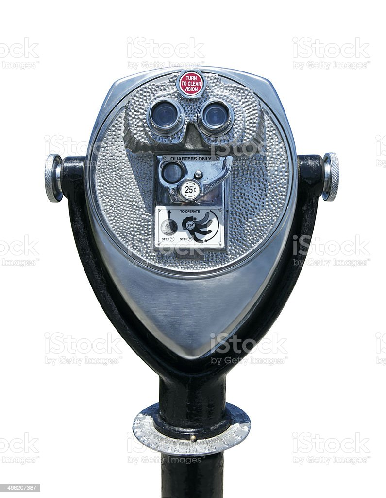 Coin operated binolculars stock photo