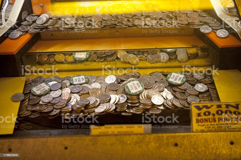 Coin operated game machine stock photo
