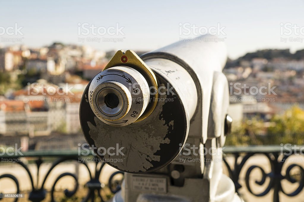 coin operated monocular royalty-free stock photo
