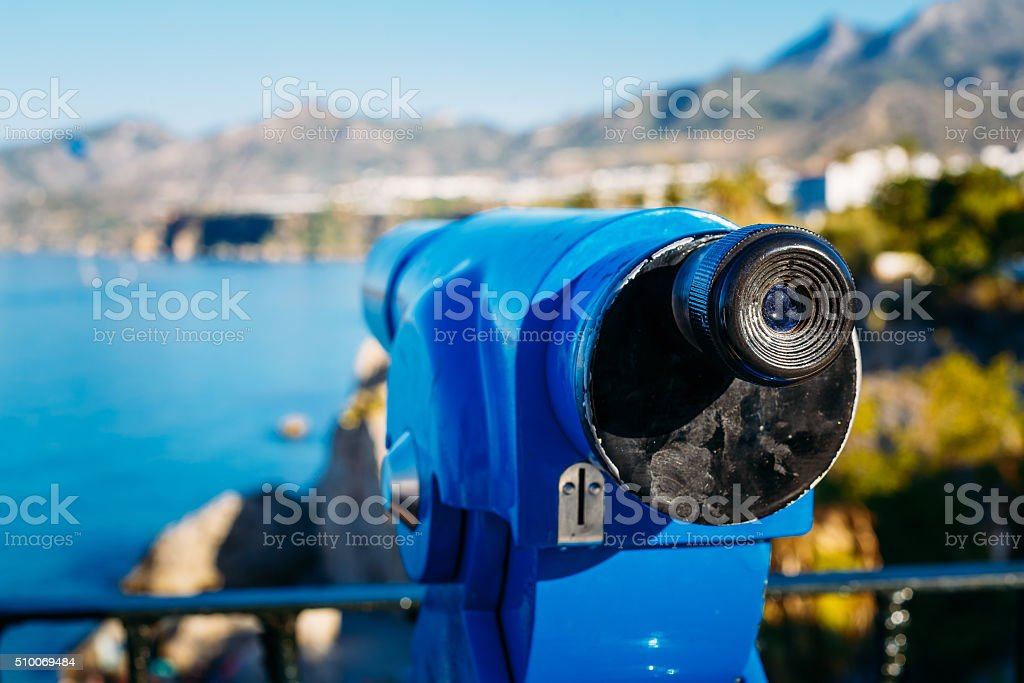 Coin Operated Telescope For Sightseeing stock photo