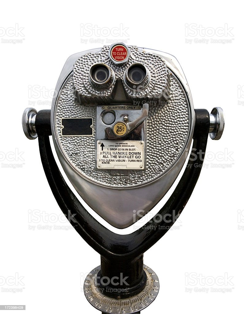coin operated viewer stock photo