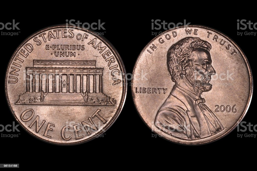 US Coin Penny stock photo