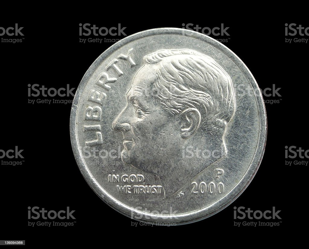 $.10 Coin royalty-free stock photo