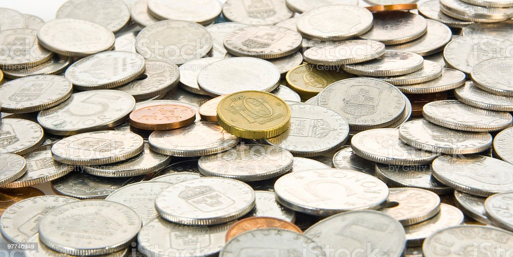 Coin Pile royalty-free stock photo