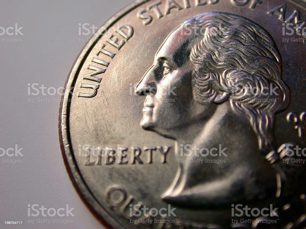 USA Coin Quarter royalty-free stock photo