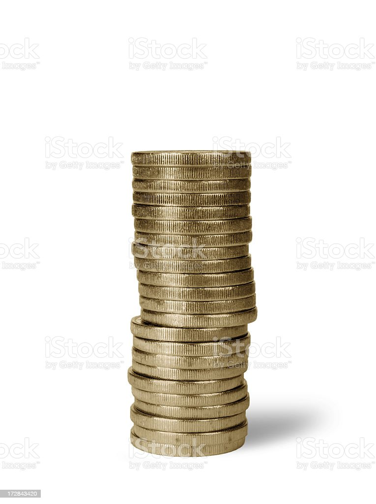 Coin Roll stock photo
