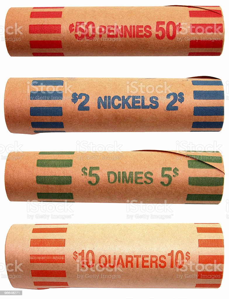Coin Roller Wrappers stock photo