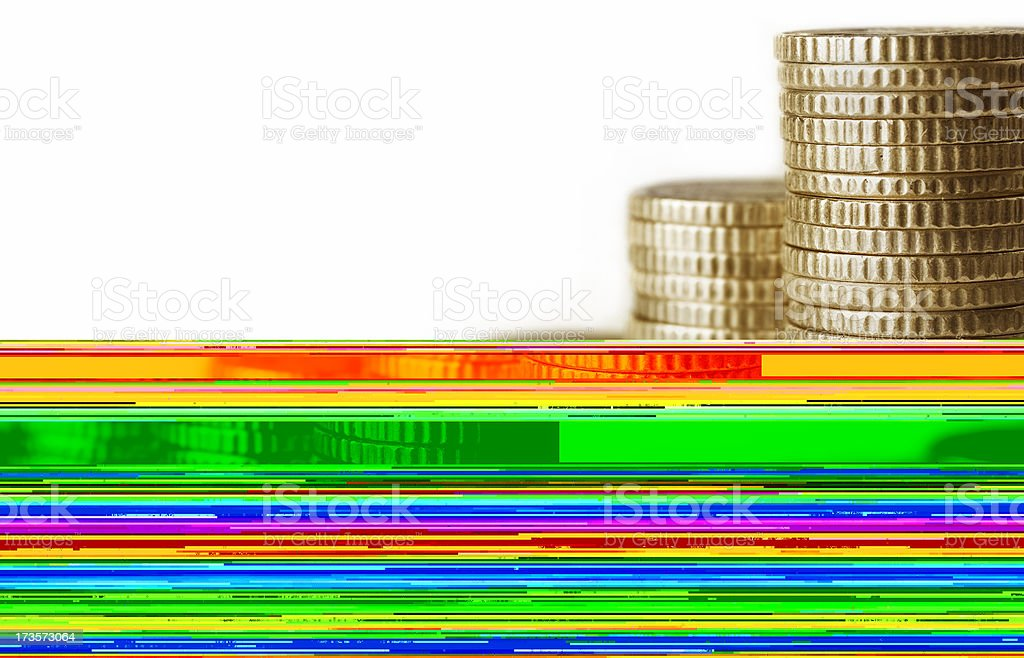 Coin rolls stock photo