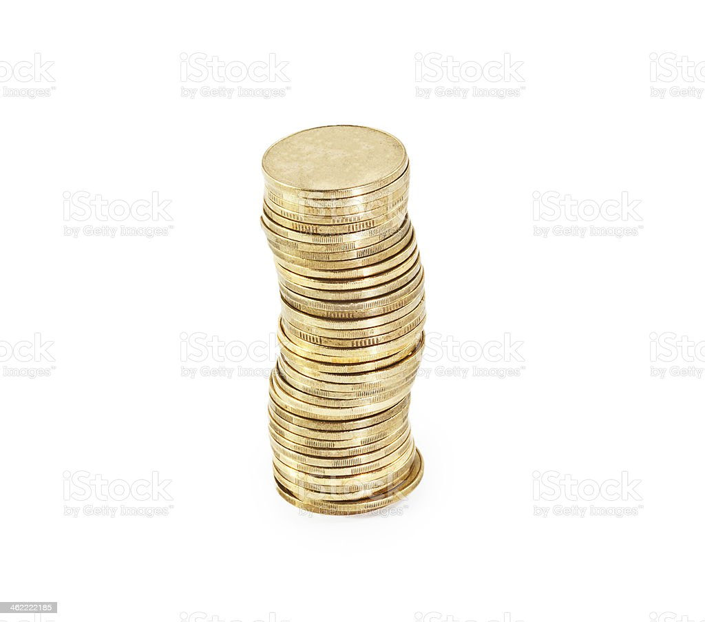 coin stack stock photo