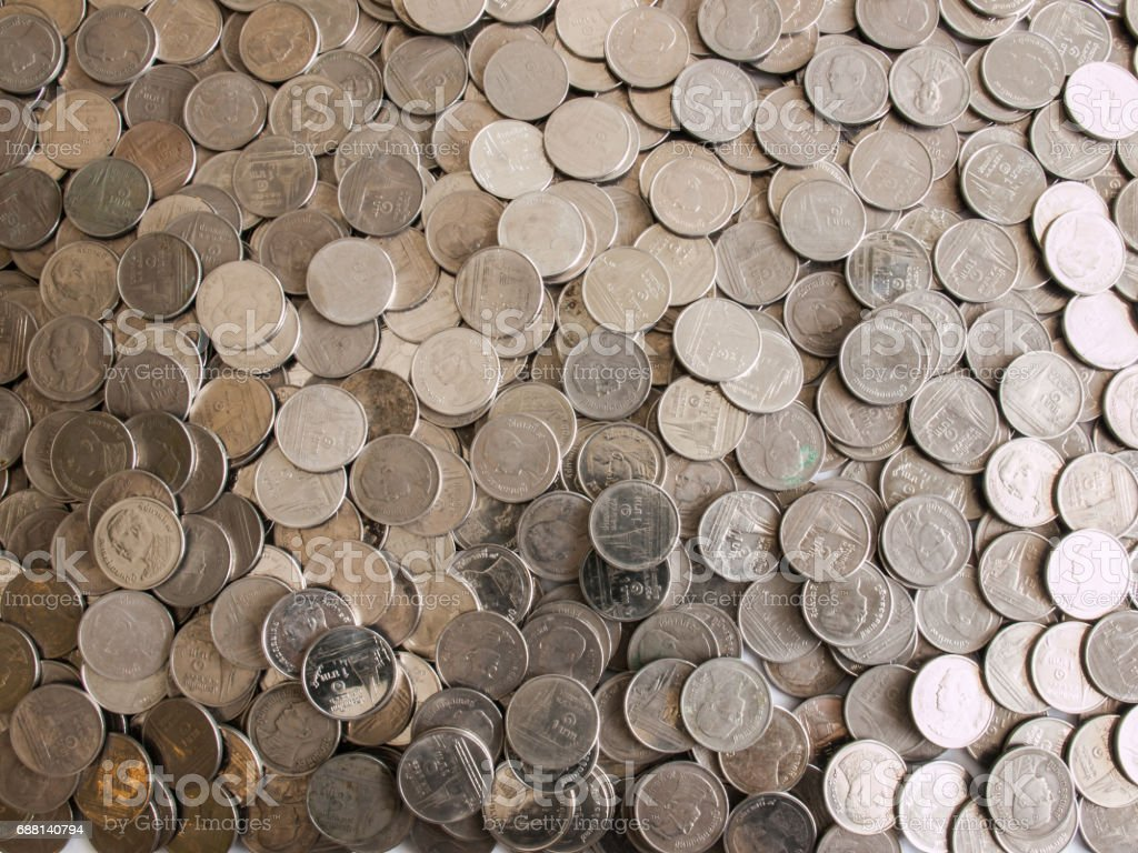 Coin stack (Baht) stock photo