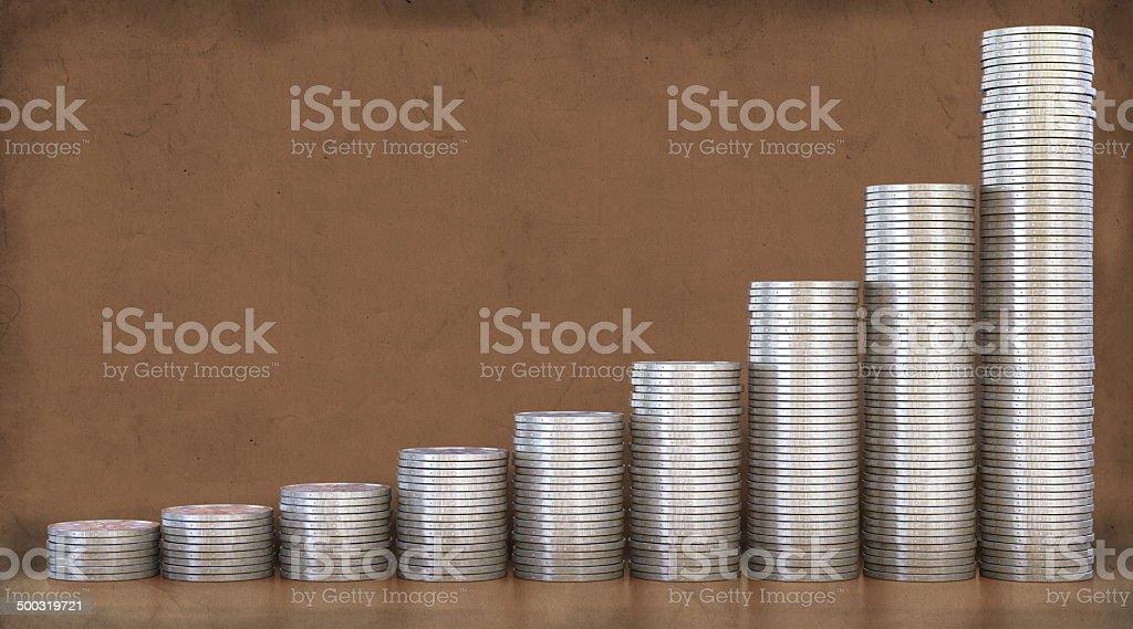 Coin Stacks A1 stock photo