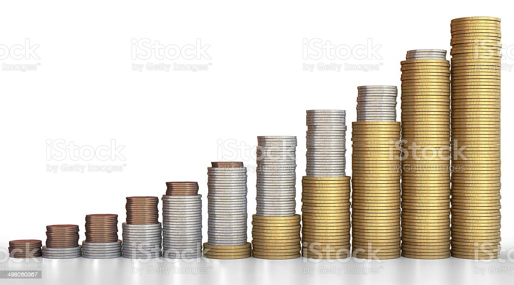Coin Stacks B1 stock photo