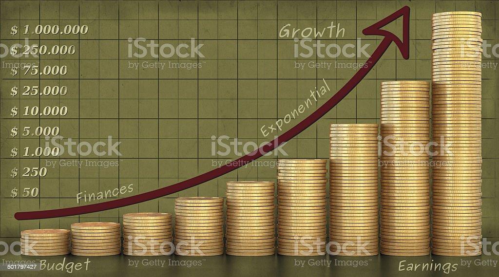 Coin Stacks Design stock photo