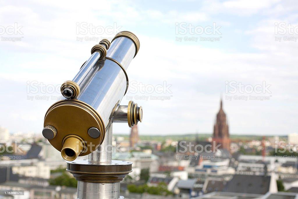 coin telescope royalty-free stock photo