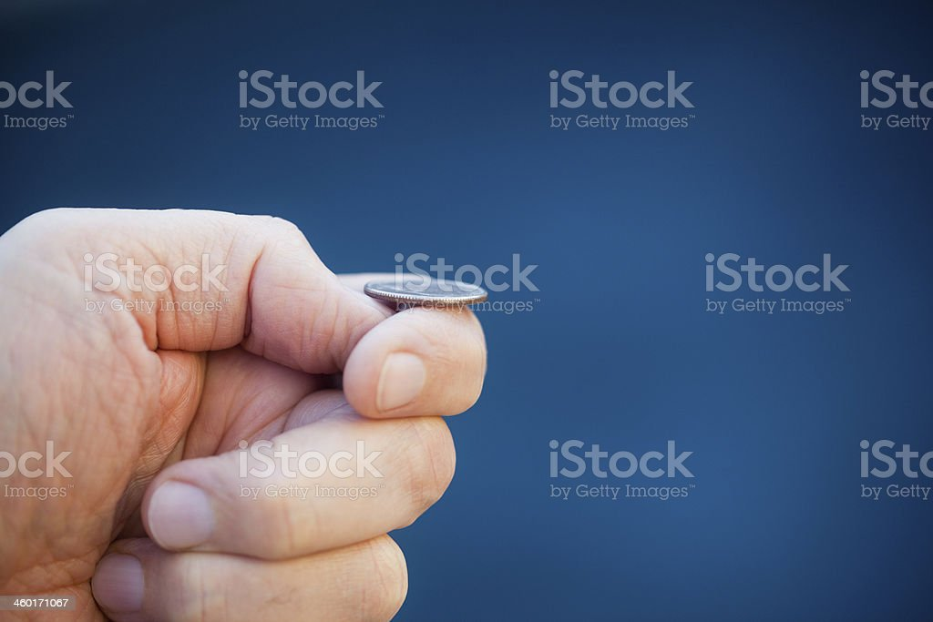 Coin Toss stock photo