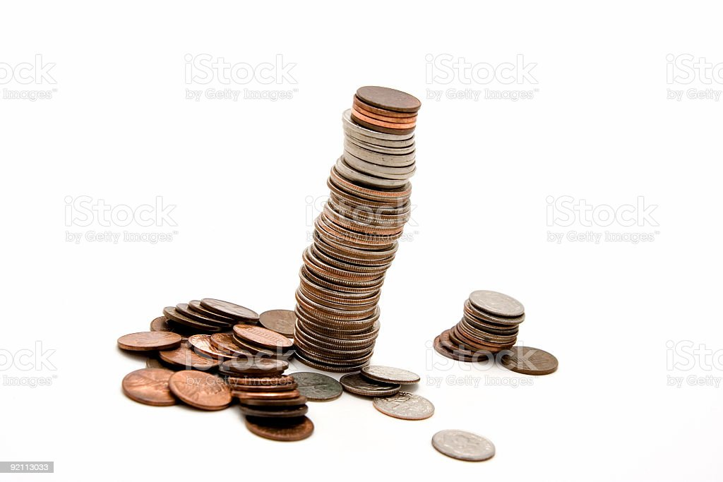 Coin tower royalty-free stock photo