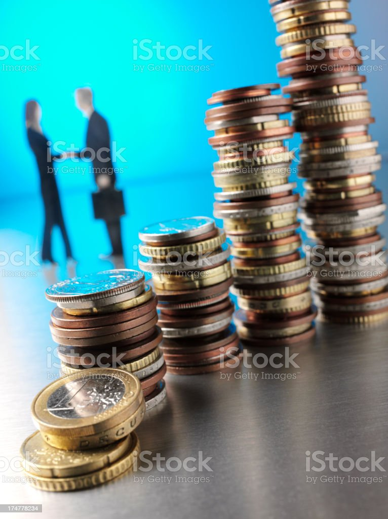 Coin Towers royalty-free stock photo
