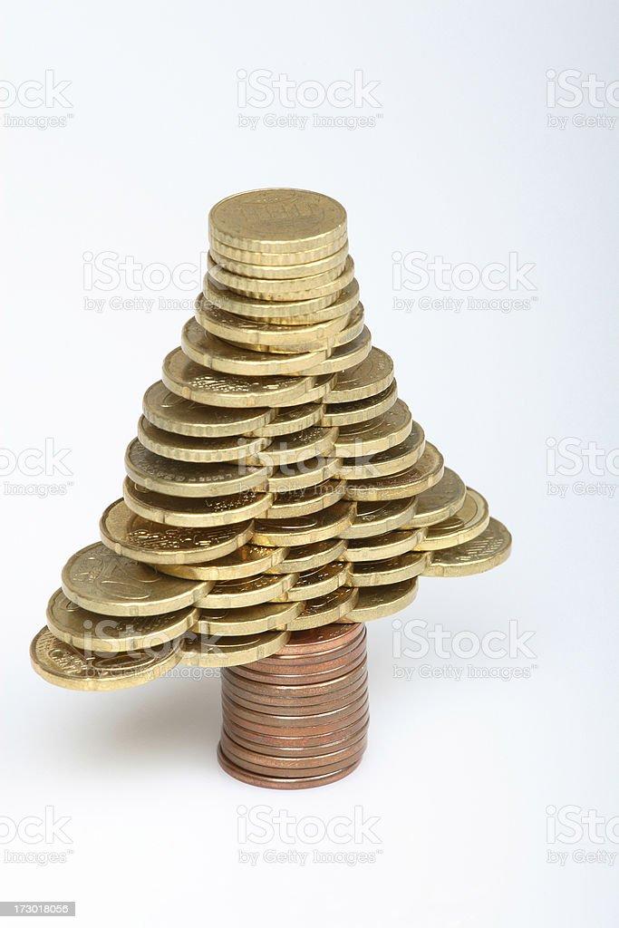 Coin tree stock photo