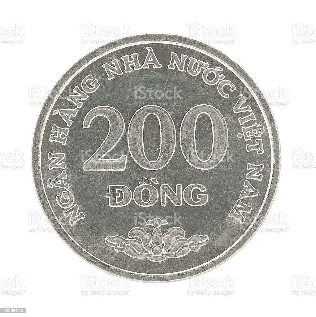 Coin Vietnam 200 Dong stock photo