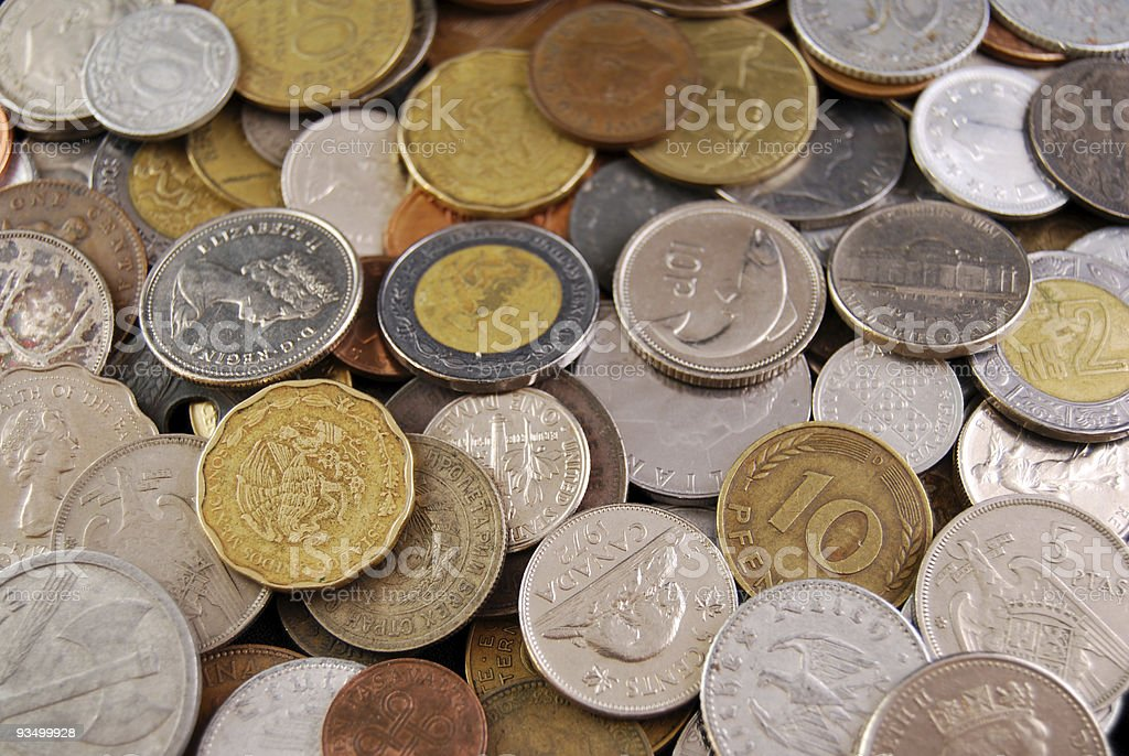 coinage stock photo
