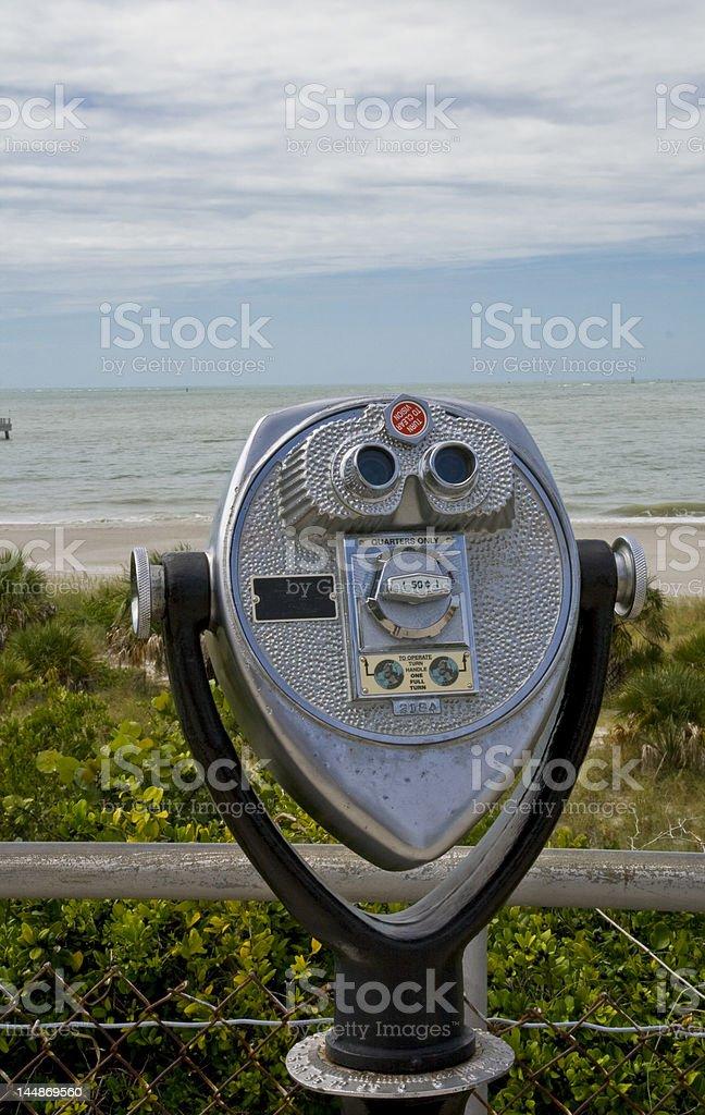 Coin-op Binoculars stock photo