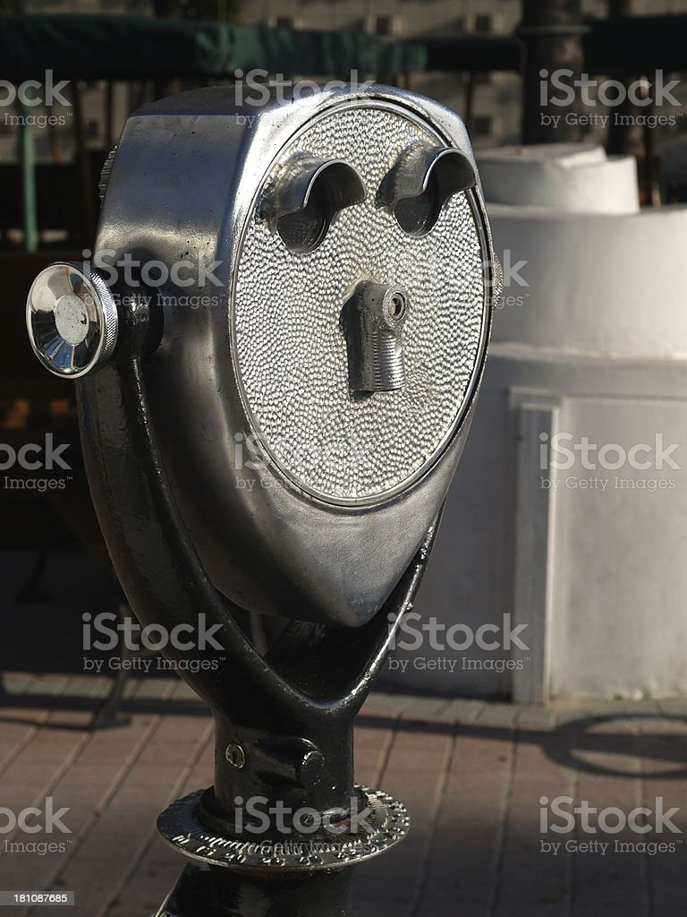 Coin-operated binoculars royalty-free stock photo