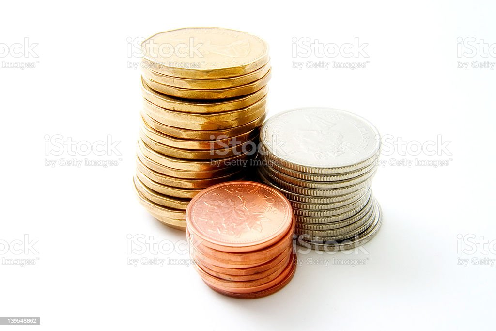 coins 2 stock photo