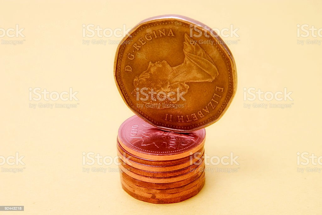 coins 8 stock photo