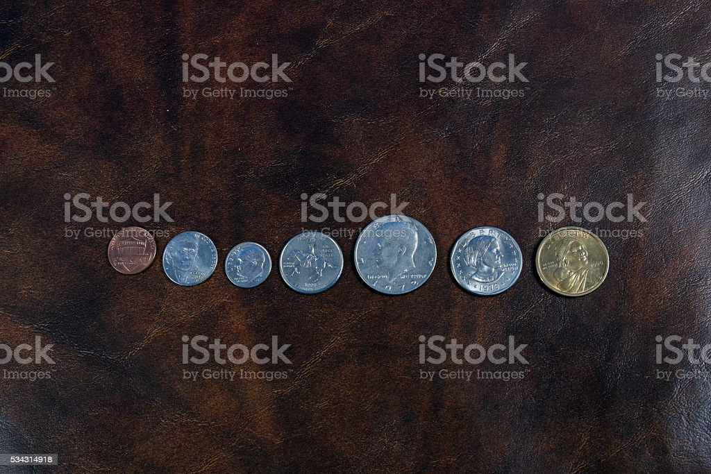 US Coins and Currency stock photo