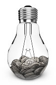 coins and lamp