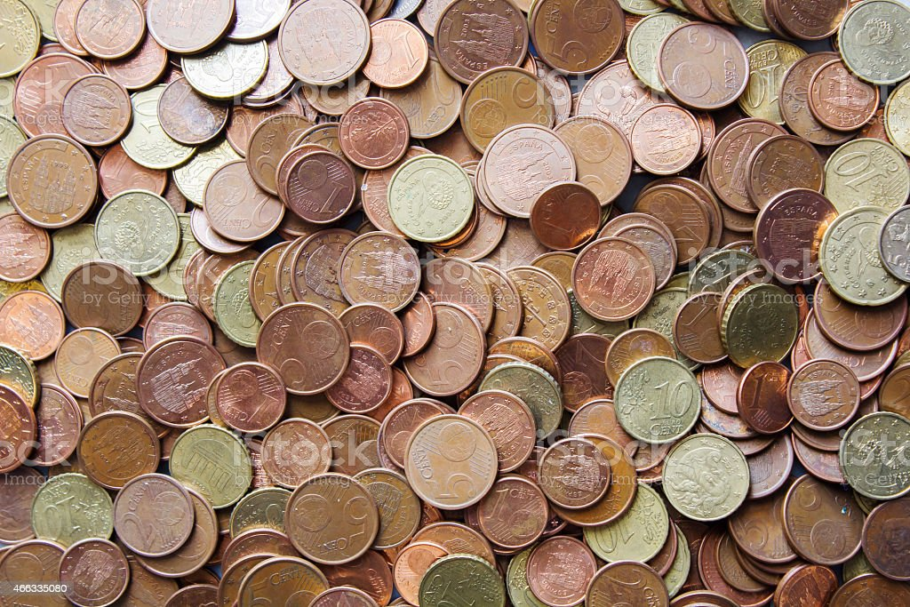 Coins background cents stock photo