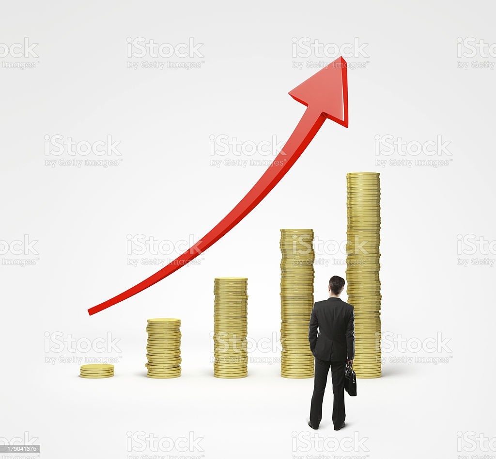 coins chart royalty-free stock photo