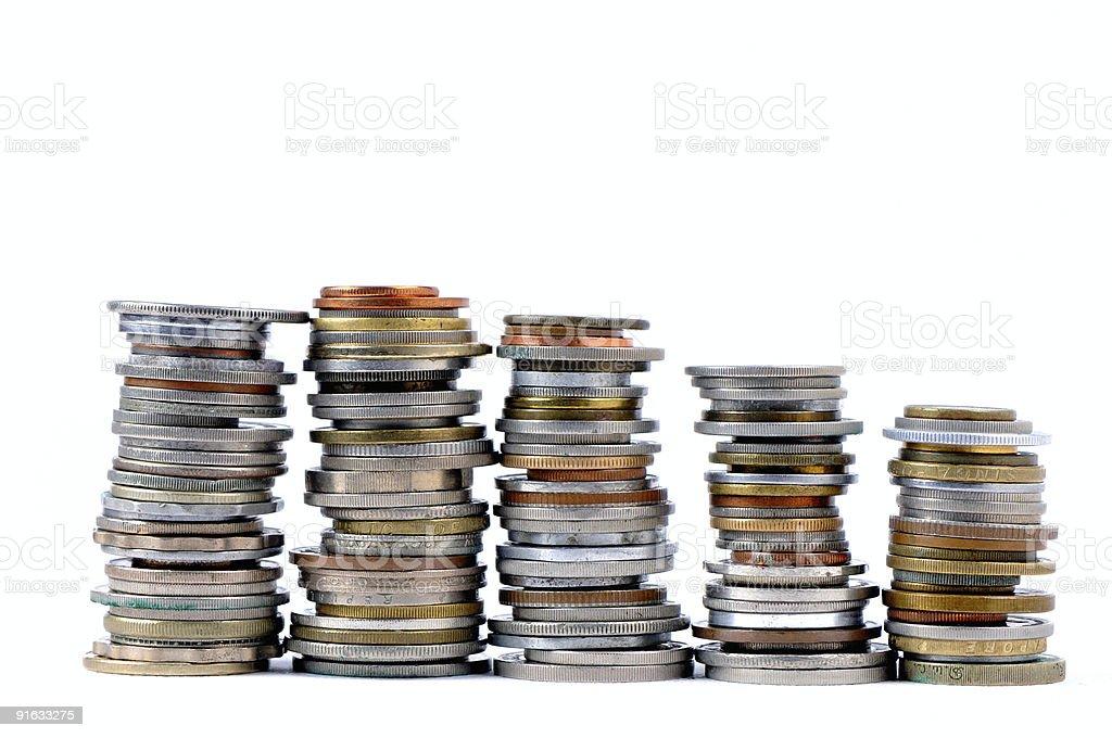 coins collection stock photo