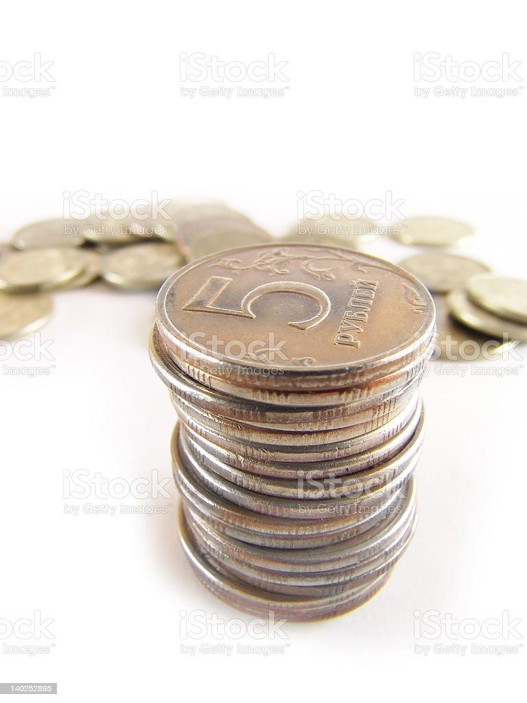 Coins Column royalty-free stock photo