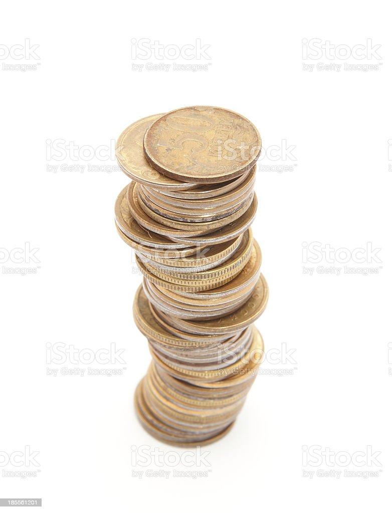 coins column stock photo