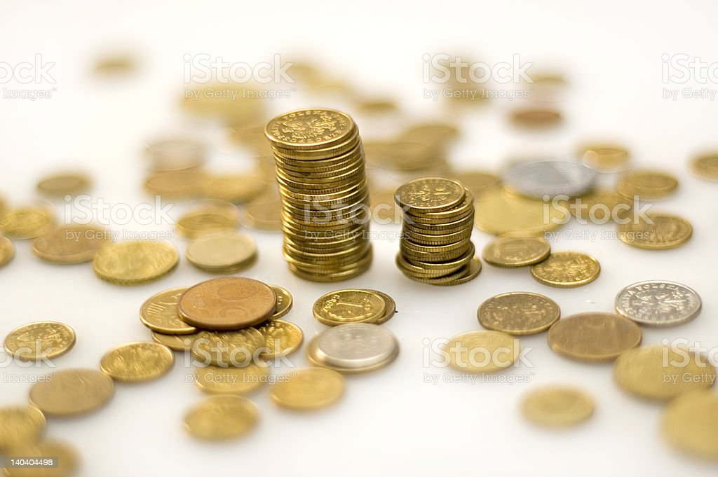 coins columns royalty-free stock photo