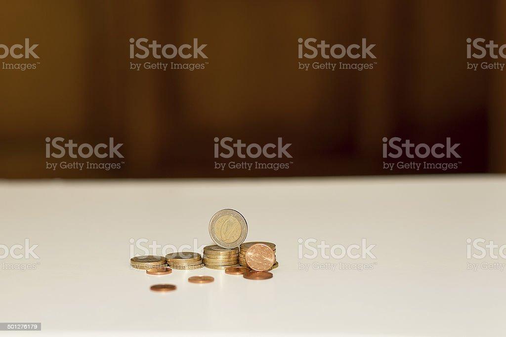Coins : euros stock photo